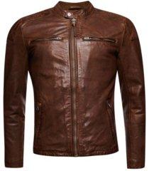 superdry men's moto racer jacket