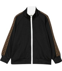 fendi black sweatshirt with lateral bands