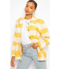 oversized flannel coat, mustard