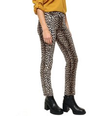 pantalón animal print yurine recto
