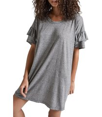 women's current/elliott ruffle roadie t-shirt dress