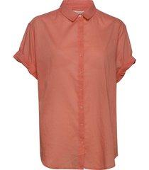 ameliacr shirt kortärmad skjorta orange cream