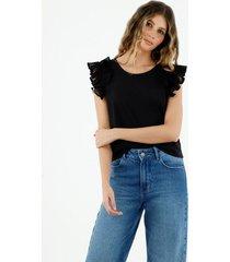 camiseta de mujer, cuello redondo, manga sisa, con boleros