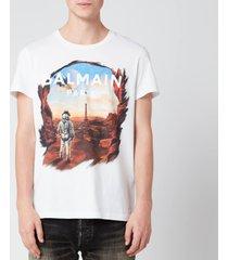 balmain men's astronaut t-shirt - multi - xl