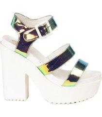 sandalia olive multicolor we love shoes
