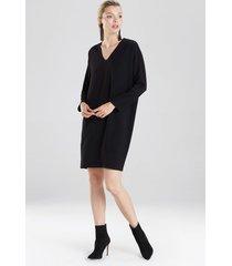 natori bi-stretch wedge dress, women's, black, size l natori