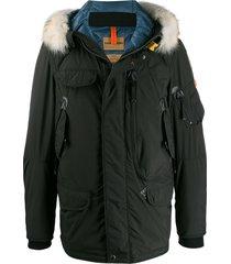 parajumpers hooded military jacket - black