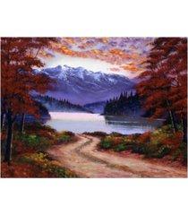 "david lloyd glover roat to green lake canvas art - 37"" x 49"""