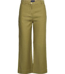 d1. hw summer linen pant wijde broek groen gant