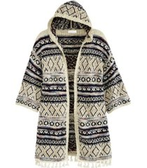 adyson parker women's novelty poncho cardigan with hoodie
