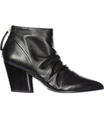 stivaletti stivali donna con tacco in pelle rouge 12
