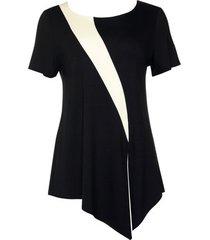 blouse lisca top met korte mouwen guaraja zwart