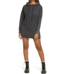 women's bp. women's washed sweatshirt dress, size medium - black