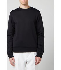 acne studios men's logo zip sweatshirt - black - xl