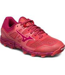 wave hayate 6 w shoes sport shoes running shoes röd mizuno