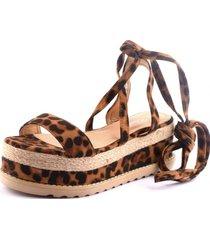 sandalia donna leopardo weide