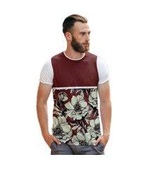 camiseta di nuevo florida flores collection masculina