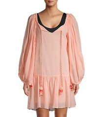 cotton short coverup dress