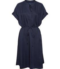 d1. fluid dress jurk knielengte blauw gant