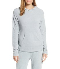 women's barefoot dreams cozychic(tm) ultra lite pullover hoodie, size medium - blue