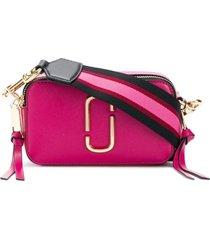 marc jacobs bolsa tiracolo pequena 'snapshot camera' - rosa