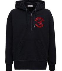 alexander mcqueen jersey hoodie with logo