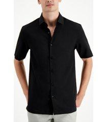 alfani men's solid short sleeve shirt, created for macy's