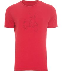 t-shirt masculina silkada vespa lines - vermelho