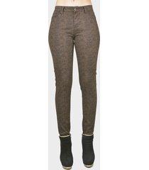 jeans tentation print marrón - calce ajustado