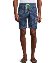 sovereign code men's cotton camo drawstring shorts - marine - size l