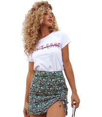 blusa in love t-shirt dont care branca - branco - feminino - algodã£o - dafiti