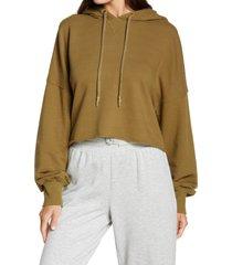 women's ugg keira crop hoodie, size x-small - green