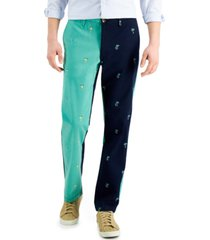 club room men's 4-way stretch two toned pants, created for macy's
