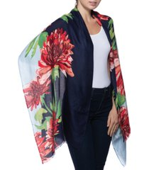 inc international concepts bold floral-print pashmina scarf, created for macy's