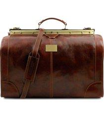 2ffe846c7c tuscany leather tl1022 madrid - borsa da viaggio in pelle - misura grande  marrone