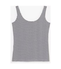 blusa regata alça larga estampada | cortelle | preto | m