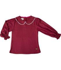 blusa vinotinto estilo rosa fiona