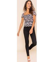 women's harper heritage high rise black skinny jeans in denim by francesca's - size: 30
