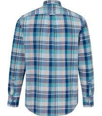 overhemd van 100% katoen met ruitdessin van gant turquoise