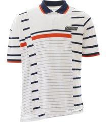 martine rose striped polo shirt