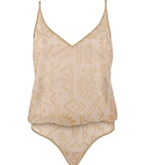 golden karo body top | unwired unpadded egyptian gold and ivory - s
