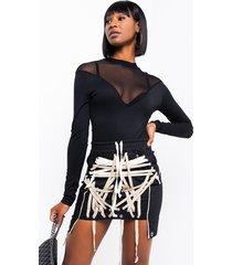 akira diva mesh detail bodysuit