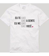 camiseta amo amo amo reserva branco - branco - masculino - dafiti