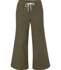 pantaloni culotte ultra morbidi con laccetto e cinta comoda (verde) - bpc bonprix collection