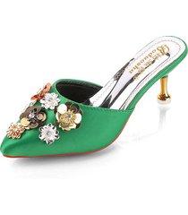 sandalias huecas florales para mujer pu high high heels 2019 verano