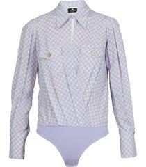 elisabetta franchi viscose georgette body shirt