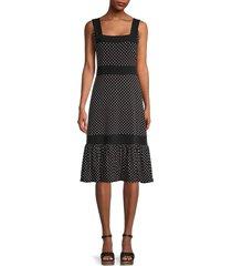 bcbgmaxazria women's polka dot tiered dress - black - size xs