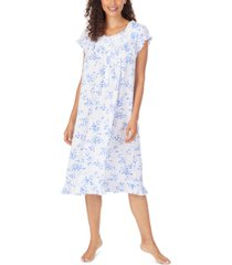 eileen west floral-print pointelle waltz nightgown
