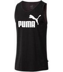 essentials tank top, zwart, maat l | puma