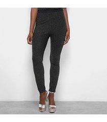 calça legging triton listrada metalizada feminina